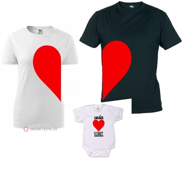 Dětské body pro miminko s potiskem - k prvním narozeninám - srdce 8a1b758549