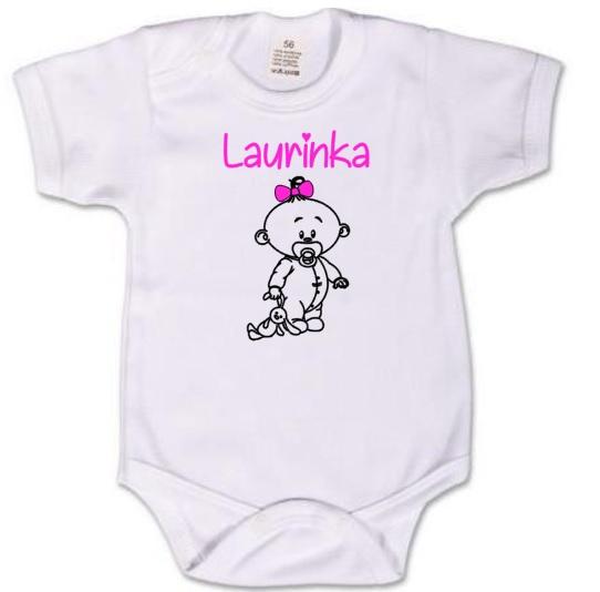 Dětské body pro miminko s potiskem - se jménem na přání a698d917c3