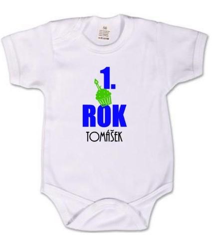 a6f58443f6e Dětské body pro miminko s potiskem - k prvním narozeninám