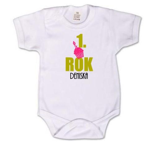 Dětské body pro miminko s potiskem - k prvním narozeninám 1f08c10f6a
